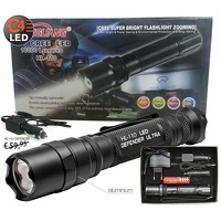 Bekijk de deal van VSDEAL.com: HL-110 Ultra LED Flashlight Black Defender Series