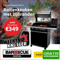 Bekijk de deal van Barbecueshop.nl: Patton Master Chef 4 gasbarbecue
