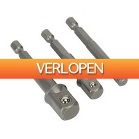 Gereedschapcentrum.nl: Sealey AK4929 3-delige bit adapter set