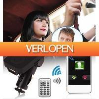 Uitbieden.nl: Bluetooth carkit, FM transmitter USB lader en remote
