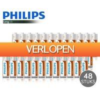 Voordeelvanger.nl 2: 48 AA en/of AAA Philips LongLife batterijen