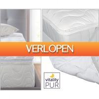 Koopjedeal.nl Home & Living: Comfortabel Opleg Topdekmatras van kwaliteitsmerk Vitality Pur