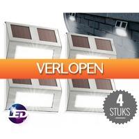 Koopjedeal.nl Home & Living: Set van VIER solar LED buitenlampen van LED Lovers