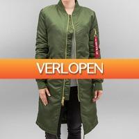 Defshop: Alpha Industries MA-1 Coat B3 Women Jacket Dark Green
