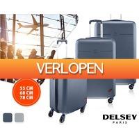 1DayFly: Delsey trolley met 4 wielen in 3 maten
