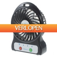Knaldeals.com: Herlaadbare portable Mini USB desktop fan