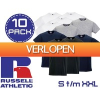 ClickToBuy.nl: 10-pack Russell Athletic basic t-shirts