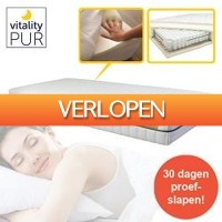 One Day Only: 7-zone traagschuim pocketveer matras
