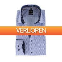 Suitableshop: Olymp shirt print paars