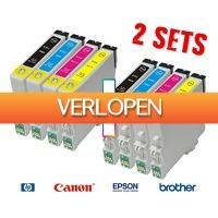 Voordeelvanger.nl: 2 sets cartridges voor HP, Epson, Brother & Canon printers