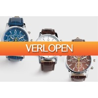 Marktplaats Aanbieding 2: Stijlvol herenhorloge in 3 verschillende kleuren