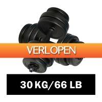 VidaXL.nl: Dumbell halterset 30 kg