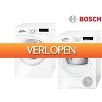 iBOOD Electronics: Bosch EcoSilence wasmachine & AutoDry warmtepompdroger