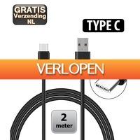 KoopjeNU: USB Type C kabel 2 meter