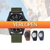 Slimmedealtjes.nl: RVS leger horloge