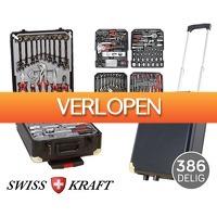 Voordeelvanger.nl: 386-delige Swiss Kraft Black Gold gereedschapsstrolley