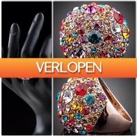 TheBestDeals.nl: Gold-plated ring met Swarovski Elements