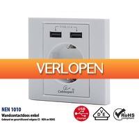 ClickToBuy.nl: Cablexpert wandcontactdoos met USB-aansluitingen