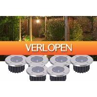 Marktplaats Aanbieding 3: 6-pack LED grondspots op zonne-energie