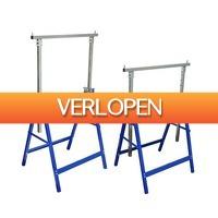 VidaXL.nl: 2 x metalen schragen