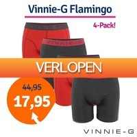 1dagactie.nl: 4 x Vinnie-G Flamingo boxershorts