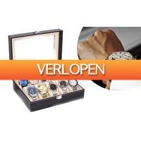 Dealqlub.com: Horloge doos van leder