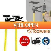 Wilpe.com - Tools: 2-pack Toolwelle telescopische steunen