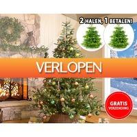 1DayFly Outdoor: Nordmann kerstbomen 1 + 1 gratis