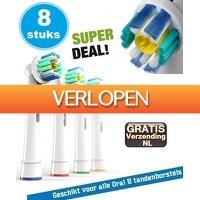 KoopjeNU: 8 x opzetborstels 3D voor Oral-B