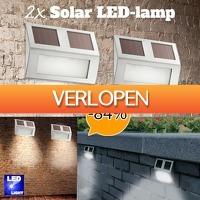 Slimmedealtjes.nl: Set van 2 solar LED-buitenlampen