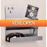 CheckDieDeal.nl 2: Sleutelkastje RVS met magneetbord, sleutelrekje