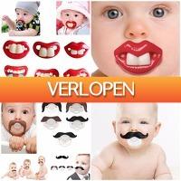 TheBestDeals.nl: Opruiming: 2 stuks Funny Baby spenen
