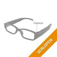 Bril met mini-camera en videorecorder