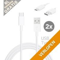 2 x USB Type-C kabel