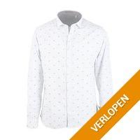 No-Excess overhemd streep blauw