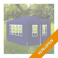 vidaXL Partytent met 4 wanden 3 x 4 m blauw