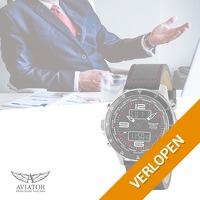 Veiling: Aviator heren horloge
