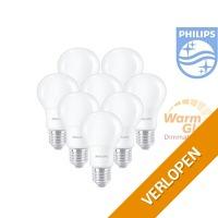 8 x Philips WarmGlow LED-lamp dimbaar