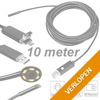 Waterdichte 10M micro-USB & USB endoscoop