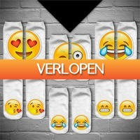 Gadgetsgift.nl: 6 paar Emoji sokken