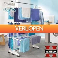 Dealwizard.nl: Herzberg multifunctioneel uitklapbaar droogrek
