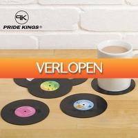 Multismart.nl: 6 x retro vinyl LP onderzetters