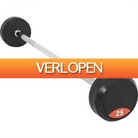 Befit2day.nl: Vaste halterstang 25 kg rubber
