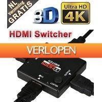 Mob-Com: 3-poorts HDMI Switcher 4K Full HD