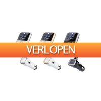 Groupon 3: Bluetooth 4-in-1 carkit met FM-zender