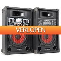 MaxiAxi.com: Fenton SPA-800 actieve PA karaoke luidspreker set