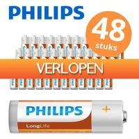 6deals.nl: 48 x Philips AA/AAA batterijen