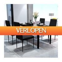 VidaXL.nl: 5-delige vidaXL eetkamerset