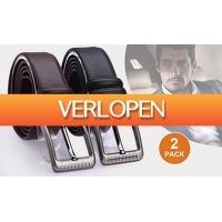 Euro2deal.nl: 2 x leren herenriemen