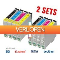 Voordeelvanger.nl: 2 x set cartridges voor HP, Epson, Brother & Canon printers